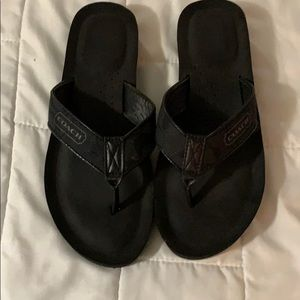 Coach flip flops, great condition. Size 7 1/2